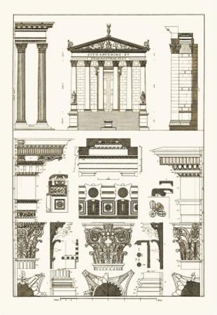 Temples of Antonius, Castor and Mars by J^ Buhlmann