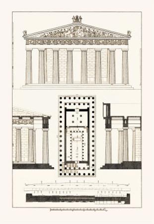 The Parthenon at Athens by J^ Buhlmann