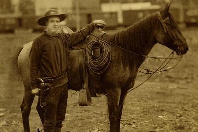 Arizona Sheriff With Revolver Ca 1880s-1890s.