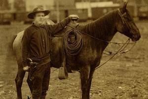 Arizona Sheriff With Revolver Ca 1880s-1890s. by J.C. Burge