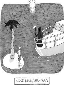 Good news/bad news - New Yorker Cartoon by J.C. Duffy