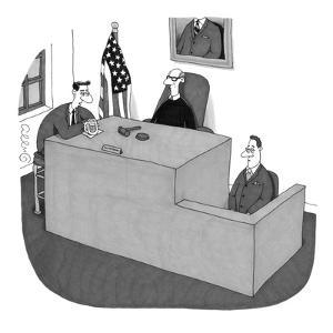 """""""My witness doesn't understand me."""" - New Yorker Cartoon by J.C. Duffy"""
