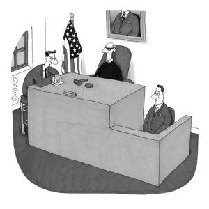 """My witness doesn't understand me."" - New Yorker Cartoon by J.C. Duffy"