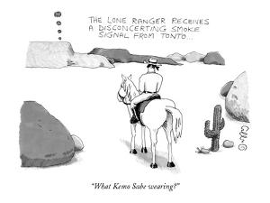 """""""What Kemo Sabe wearing?"""" - New Yorker Cartoon by J.C. Duffy"""