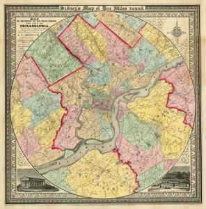 The City of Philadelphia, c.1847 by J^ C^ Sidney