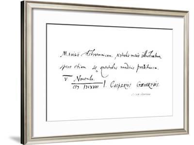 J Casp: Gevartius--Framed Giclee Print