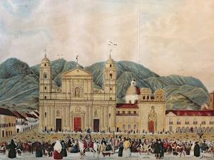 The Plaza de Bolivar, Bogota, 1837 by J. Castillo