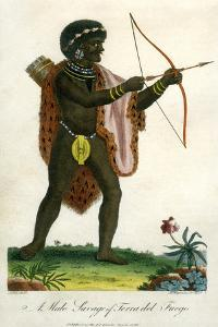 A Male Savage of Terra Del Fuego, 1795 by J Chapman