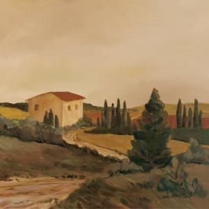 Sunny Tuscan Fields by J^ Clark