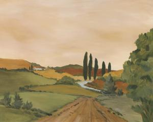 Sunny Tuscan Road by J^ Clark