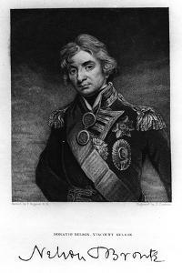 Horatio Nelson, 1st Viscount Nelson, English Naval Commander, 19th Century by J Cochran