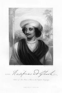 Kasi Das Prasad Ghosh, Indian Poet, 1834 by J Cochran