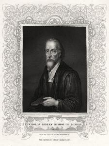 Nicholas Ridley, Bishop of London, 19th Century by J Cochran