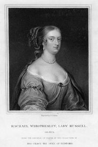 Rachael Wriothesley, Lady Russell, 19th Century by J Cochran