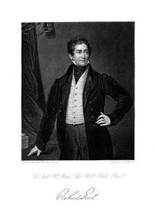 Robert Peel, British Statesman, 19th Century by J Cochran