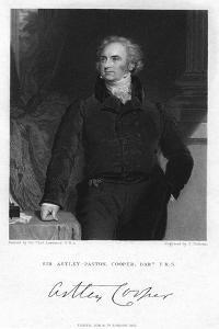 Sir Astley Paston Cooper, 1st Baronet, English Surgeon and Anatomist, 1831 by J Cochran