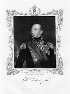 Sir Edward Codrington, British Admiral, 19th Century by J Cochran