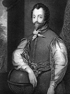 Sir Francis Drake, 16th Century English Navigator and Privateer by J Cochran