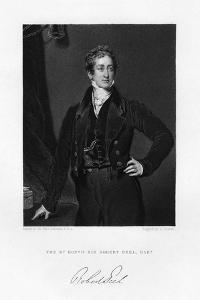 Sir Robert Peel, British Prime Minister, 19th Century by J Cochran