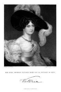 Victoria Mary Louisa, Duchess of Kent, 1832 by J Cochran