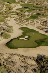 Desert Mountain Renegade Course, Hole 6, aerial by J.D. Cuban