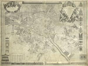 Nouveau Plan de Paris, 1728 by J^ Delagrive