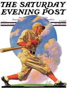 """Baseball Batter,"" Saturday Evening Post Cover, May 28, 1932 by J.F. Kernan"