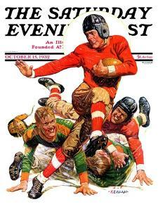 """""""College Football,"""" Saturday Evening Post Cover, October 15, 1932 by J.F. Kernan"""