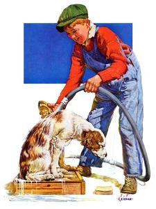"""Dog Bath,""January 13, 1934 by J.F. Kernan"