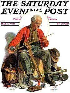 """""""Going Fishing,"""" Saturday Evening Post Cover, May 3, 1930 by J^F^ Kernan"""