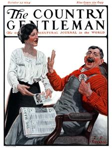 """He Won't Win!,"" Country Gentleman Cover, October 25, 1924 by J.F. Kernan"