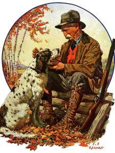 """Hunter and Spaniel,""November 3, 1928 by J^F^ Kernan"