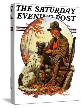 """Hunter and Spaniel,"" Saturday Evening Post Cover, November 3, 1928"