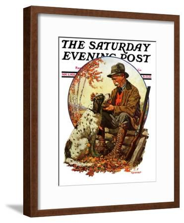 """Hunter and Spaniel,"" Saturday Evening Post Cover, November 3, 1928"