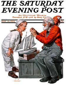 """Model Ship,"" Saturday Evening Post Cover, May 31, 1924 by J.F. Kernan"
