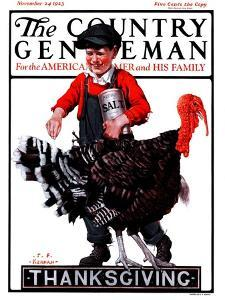 """Thanksgiving,"" Country Gentleman Cover, November 24, 1923 by J^F^ Kernan"