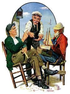 """Three Old Salts,""October 1, 1932 by J.F. Kernan"