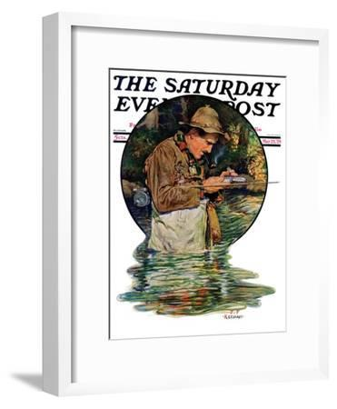 """Tying on a Fly,"" Saturday Evening Post Cover, May 25, 1929"