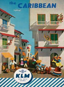 KLM Royal Dutch Airlines: The Caribbean, c.1960s by J^F^ Van Der Leeuw