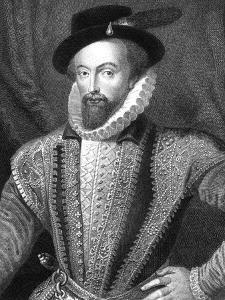 Sir Walter Raleigh, English Writer, Poet, Courtier, Adventurer and Explorer by J Fitler