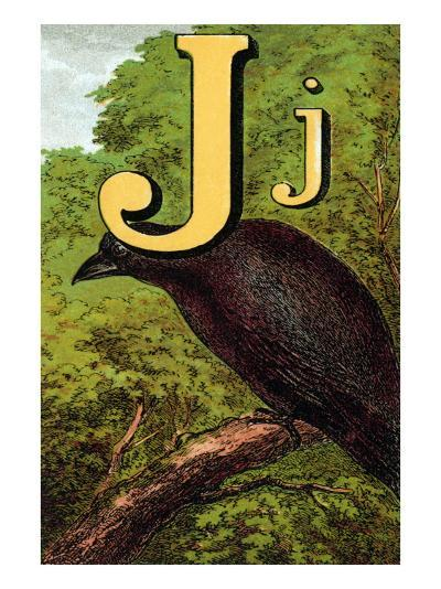 J For the Jackdaw, Perky And Bold-Edmund Evans-Art Print