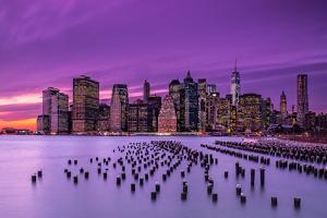 Violet Sunset by J.G. Damlow