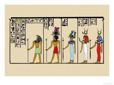 Horus, Ras, Isis and Ra-Ta