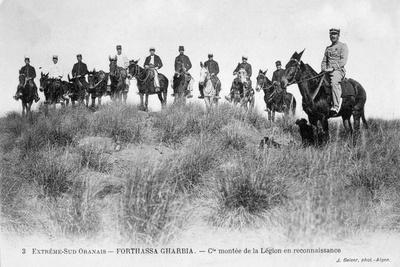 French Foreign Legion Cavalry, Forthassa Gharbia, Algeria, C1905