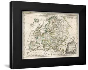 Map of Europe by J. Gibson
