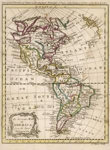 Map of North and South America by J. Gibson