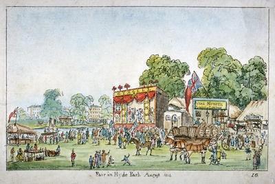 Fair in Hyde Park, Westminster, London, 1814