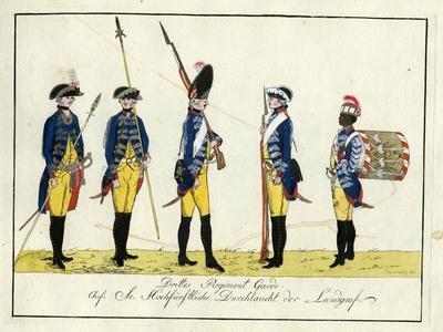 Drittes Regiment Garde, C.1784