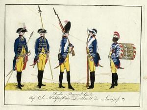 Drittes Regiment Garde, C.1784 by J. H. Carl