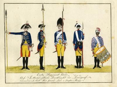 Erstes Regiment Garde, C.1784